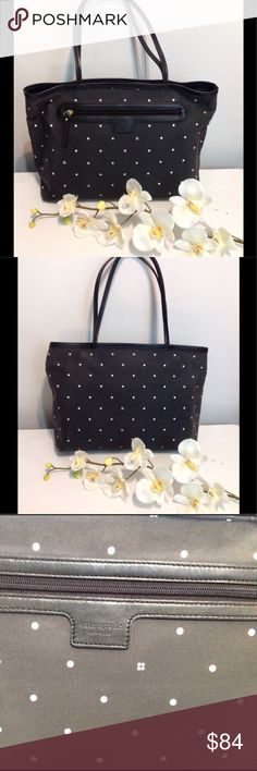 Kate Spade Black Polkadots Shoulder Bag/ purse Kate Spade Black Polkadots Shoulder Bag/ purse Kate Spade Bags Shoulder Bags