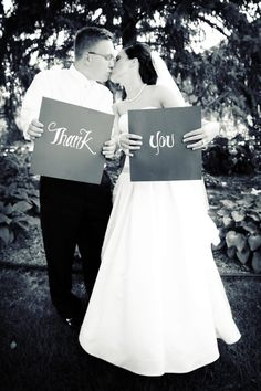 A creative and fun way to do wedding gift thank yous. Photo by Ashley B. #WeddingPhotographersMN
