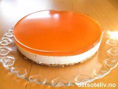 Norwegian Food, Mousse Cake, Panna Cotta, Cheesecake, Frisk, Pudding, Baking, Ethnic Recipes, Cakes