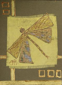 Egyptian dragonfly  handmade blank greeting card for by Vlada19, $7,00