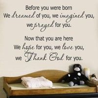 Fav baby room quote