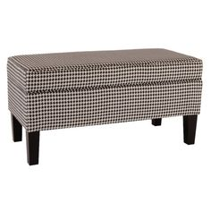 houndstooth upholstered chest