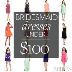 Brides.com: Affordable (and Stylish!) Bridesmaid Dresses Under $100!