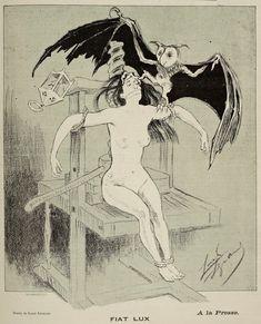 """Louis Legrand (1863-1951), 'Fiat Lux' (Let There Be Light), """"Le Courrier français"""", Nov. 3, 1889"""