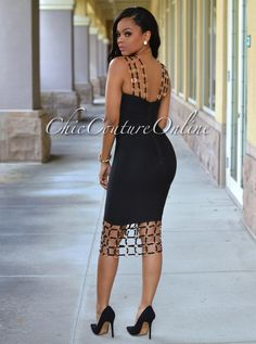 Chic Couture Online - Naples Black Gold Decor Luxe Bandage Dress, $250.00 (http://www.chiccoutureonline.com/naples-black-gold-decor-luxe-bandage-dress/)