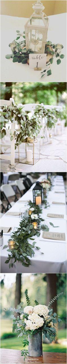 Eucalyptus green wedding color ideas / www.deerpearlflow… Eucalyptus green wedding color ideas / www. Gold Wedding Decorations, Wedding Centerpieces, Wedding Table, Wedding Ceremony, Rustic Wedding, Our Wedding, Wedding Venues, Lantern Wedding, Wedding Entrance