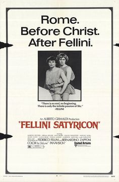 Fellini Satyricon 1970 Original Movie Poster Drama Fantasy History | eBay