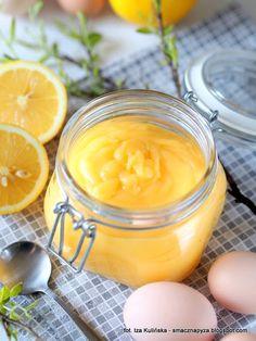 Lemon curd - muślinowy krem cytrynowy | Smaczna Pyza Lemond Curd, Kitchen Time, Lemon Lime, Pavlova, Meringue, Food And Drink, Pudding, Sugar, Baking