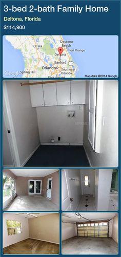 3-bed 2-bath Family Home in Deltona, Florida ►$114,900 #PropertyForSaleFlorida http://florida-magic.com/properties/63523-family-home-for-sale-in-deltona-florida-with-3-bedroom-2-bathroom