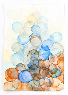 Ocean-inspired watercolors by Serena Mitnik-Miller.