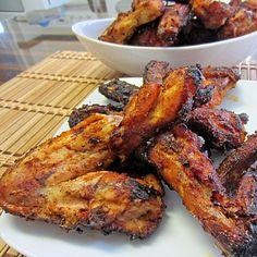 Smoked Orange Juice Chicken Wings. Marinating in OJ makes them so juicy!