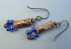 Bella- Bead Table Wednesday by Vintajia Adornments, via Flickr...bullet casing earrings