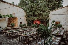 Rustic, Elegant, Greenery and fairy lights in Mallorca outdoor wedding  Wedding Planner & Design by Mille Papillons