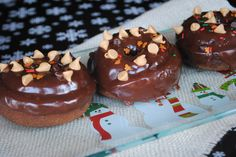 Baked Chocolate Peanut Butter Donuts ready in under 20 minutes! This recipe makes 8-10 delicious doughnuts!