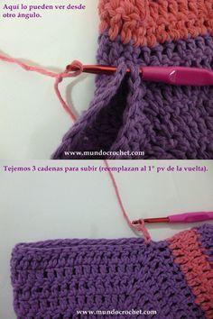 CComo tejer un saco-campera-cardigan-chambrita a crochet o ganchillo paso a paso