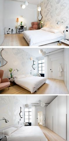 UK based interior design firm Cloud, have converted an industrial space into a light and airy apartment.