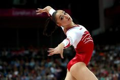 Aliya Mustafina of Russia competes in the Artistic Gymnastics Women's Floor Exercise final on Day 11 of the London 2012 Olympic Games at North Greenwich Arena on August 7, 2012 in London, England.