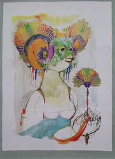 1965 Goddess of Iris by Bjørn Wiinblad by OutofCopenhagen on Etsy