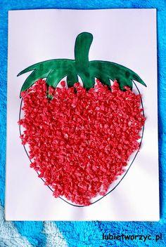 Spring Toddler Crafts, Summer Crafts For Toddlers, Hand Crafts For Kids, Summer Arts And Crafts, Food Art For Kids, Animal Crafts For Kids, Diy For Kids, Strawberry Crafts, Watermelon Crafts