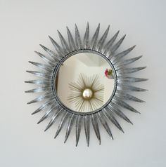 grand miroir soleil en métal 59 cm, vintage, miror de la boutique…