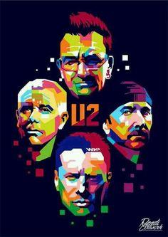 Random Promotion And Poster Art U2 Band, Music Bands, Arte Pop, Pop Rock, Rock N Roll, Art Music, Music Artists, U2 Poster, Bono Vox
