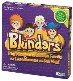 Kids don't always remember the polite way to respond in situations. The Blunder family is no exception─they are known for their rude behavior. But Billy, Brenda, Bobby and Becky Blunder want to learn manners so they will be invited to the Mannerlys' Annual Pool Party Extravaganza!  #Games #Blunder