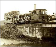 A Philippine steam-powered tranvia, traveling from Tondo to Malabon, ca. 1890