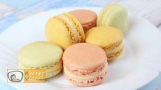 Macaron recept, Macaron elkészítése - Recept Videók White Food Coloring, Creamed Eggs, French Desserts, Food Videos, Recipe Videos, Almond Flour, Macarons, Tray Bakes, Biscuits