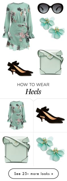 """""""Untitled #3076"""" by aqualyra on Polyvore featuring Gucci, Kate Spade, Ganni and MANU Atelier"""