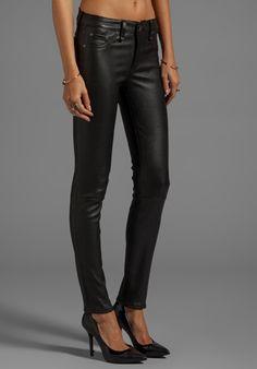 RAG & BONE/JEAN The Leather Skinny in Black - rag & bone/JEAN
