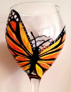 Crafty Girls Rock: Hand-Painted Wine Glasses