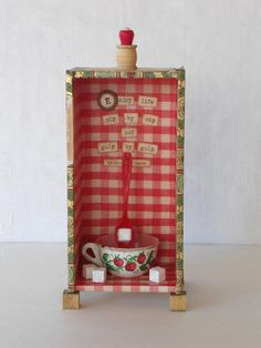 Tea Lover Kitsch 3D Shadowbox Diorama Kitchen Chime Diorama. $54.75, via Etsy.