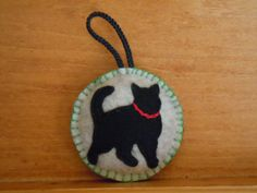 Cat Felt Ornaments by CheekyChickabees on Etsy, $20.00