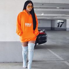 🧡 orange is new black Bad And Boujee Outfits, Classy Outfits, Trendy Outfits, Fall Outfits, Cute Outfits, Dope Fashion, Fashion Killa, Trendy Fashion, Girl Fashion
