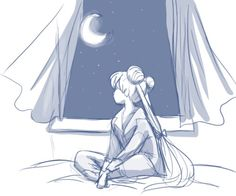Serena Tsukino - Pensándote antes de dormir ....