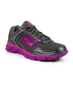 Another great find on #zulily! Black & Magenta Memory Fresh 2 Running Shoe - Women by FILA #zulilyfinds