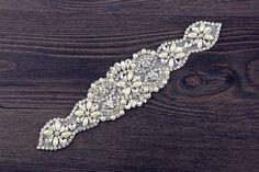 SoarDream crystal sew rhinestone applique glitter applique trim for wedding  belt   You can find more 496cb334adf2
