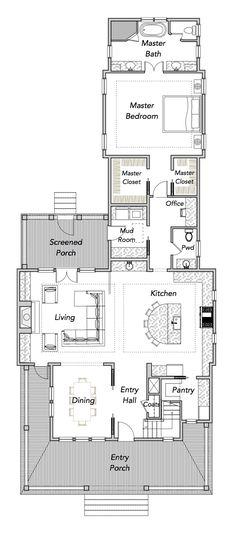 Narrow House Plans - Sparrow Collection — Flatfish Island Designs — Coastal Home Plans