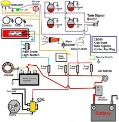 20 best car and bike wiring images electric, chains, engine Yamaha Wiring Diagram caf� racer wiring