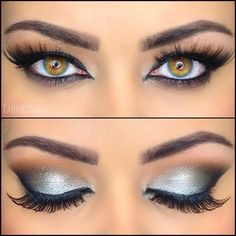 Silver Eye Makeup