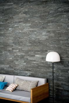 Mystone Silverstone From Marazzi Interior Tiles, Wall Tiles,Textured Wall Tiles Shower Floor, Tile Floor, Marazzi Tile, Tiles Texture, Wall Installation, Black House, Interiores Design, Wall Tiles, Living Spaces