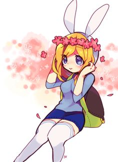 Fionna in a flower crown Fiona Adventure Time, Adventure Time Girls, Adventure Time Characters, Adventure Time Anime, Princess Adventure, Time Cartoon, Cartoon Shows, Cartoon Art, Marceline