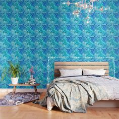IMPORTANT: make sure to order enough panels to cover your wall or surface (size options below). Our peel and stick Wallpaper is easy to apply and take off, leaving no adhesive residue. Featuring sharp, vibrant images, Wallpaper patterns are ideal for accent walls, flat surfaces and temporary installations (like parties!). Available in three floor-to-ceiling sizes.     - Panel size options in feet: 2' (W) x 4' (H), 2' x 8', 2' x 10'  - Printed on self-adhesive woven polyester fabric panels…