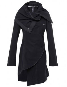 High Asymmetric Collar Coat. It is SO WRONG that I can't have this! It's like it was designed just for me.