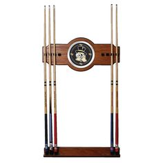 Trademark Commerce LRG6000-WFU Wake Forest University Wood and Mirror Wall Cue Rack
