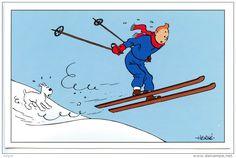 "HERGÉ "" Tintin et Milou au Ski "" - Delcampe.net"