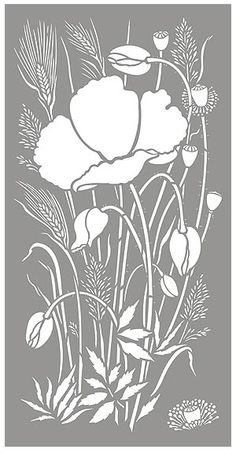 Poppy Stencils Poppy and Wild Grasses Stencil Poppies and Grasses