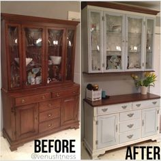 Diy Furniture Renovation, Refurbished Furniture, Repurposed Furniture, Furniture Projects, Furniture Making, Furniture Makeover, Furniture Restoration, Home Kitchens, Kitchen Remodel
