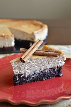 Mexican Spiced Brownie Bottom Cheesecake
