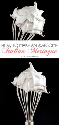 This amazing delicious Italian Meringue is creamy, fluffy and airy, sweet enough and so beautifully white! You will love this.